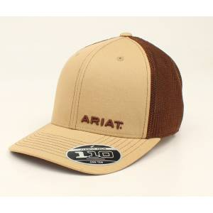 Ariat Text Offset Logo Flex Fit One Ten Ball Cap - Mens