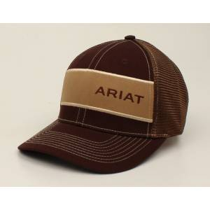 Ariat Wide Patch Offset Text Logo Ball Cap - Mens
