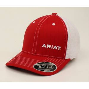 Ariat Text Offset Pinstripe Flex Fit One Ten Ball Cap - Mens