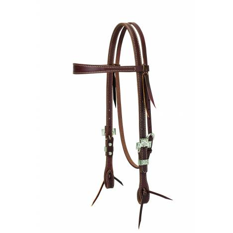 Weaver Working Cowboy Slim Browband Cross Headstall