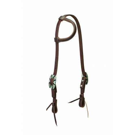 Weaver Working Cowboy Sliding Ear Rope Edge Headstall