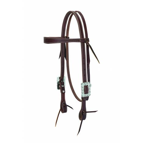 Weaver Working Cowboy Slim Browband Scalloped Headstall