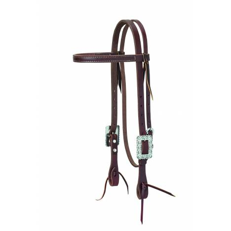 Weaver Working Cowboy Browband Scalloped Headstall