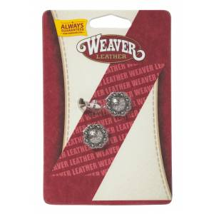 Weaver Round Berry Conchos with Chicago Screws