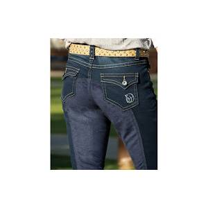 2kGrey Full Seat Denim Breeches - Ladies
