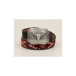 Ariat Horse Hair Braid Embellished Belt And Buckle - Mens