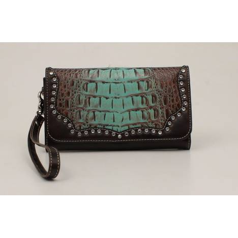 Nocona Carmel Croco Bling Clutch