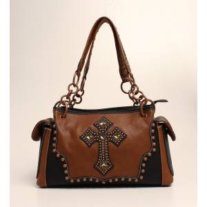 Nocona Delilah Nailhead And Cross Satchel