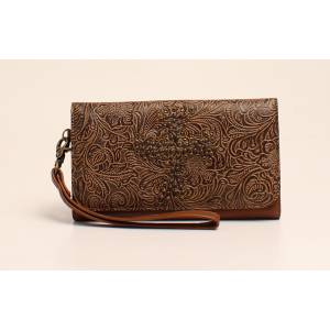 Nocona Nina Embossed Nailhead Studded Cross Clutch