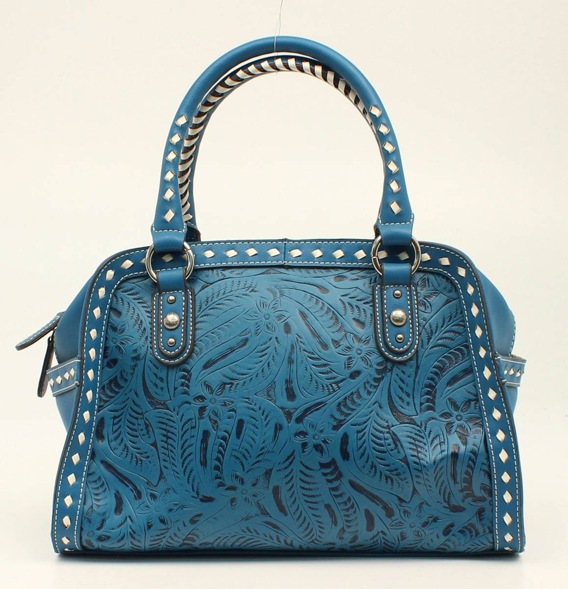Nocona Nora Floral Embossed Stitched Doctor Bag