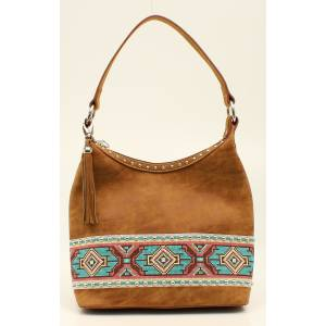 Nocona Shania Aztec Ribbon Hobo Bag