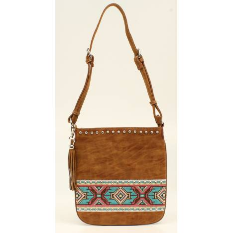 Nocona Shania Aztec Ribbon Messenger Bag