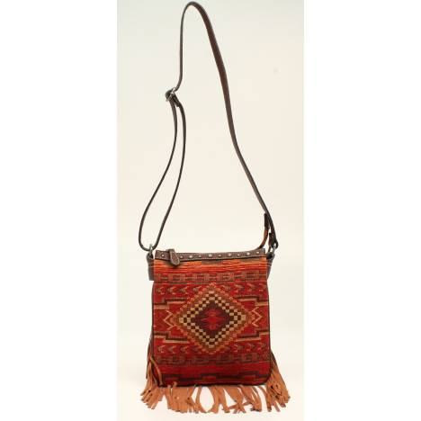 Nocona Sierra Indian Blanket Fringe Messenger Bag