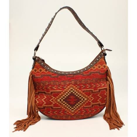 Nocona Sierra Indian Blanket Fringe Shoulder Bag