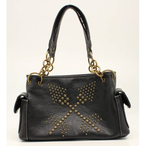 Nocona Claire Nailhead Double Arrows Satchel
