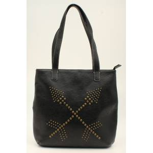 Nocona Claire Nailhead Double Arrows Tote