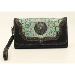 Nocona Desiree Croc And Concho Clutch