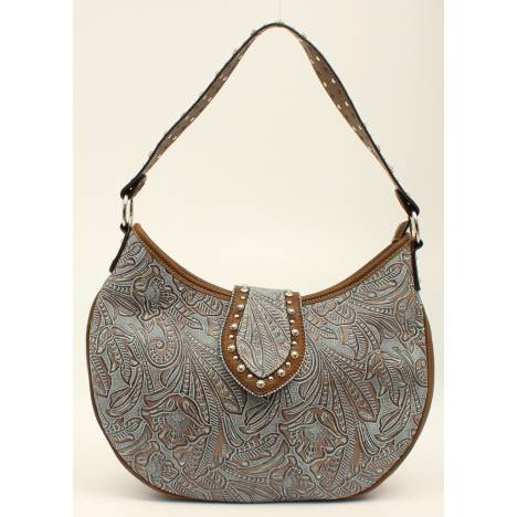 Nocona Tessa Embossed Nailhead Hobo Bag