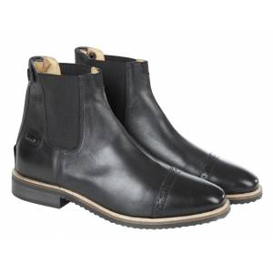 Huntley Equestrian Ladies Classic Leather Zipper Paddock Boots