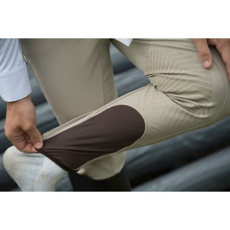 FITS Hudson Zip Front Knee Patch Tread Woven Breeches - Mens - Walnut