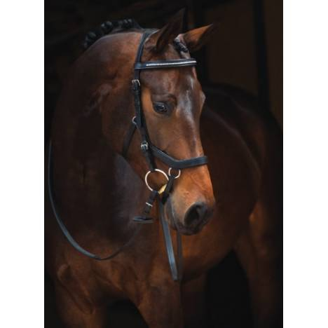 Rambo Micklem Diamonte Bridle - English Leather