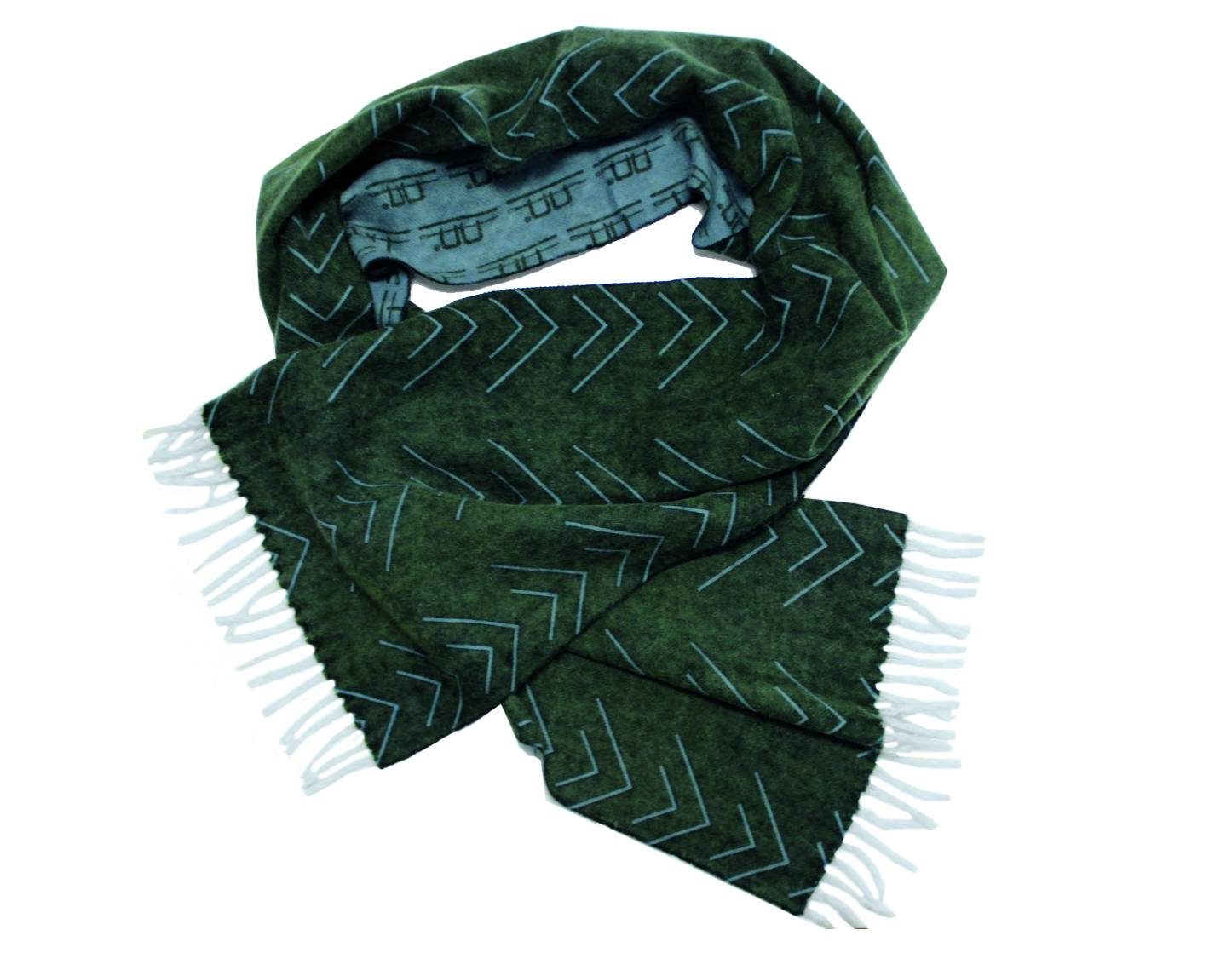 Alessandro Albanese Wool Scarf Unisex