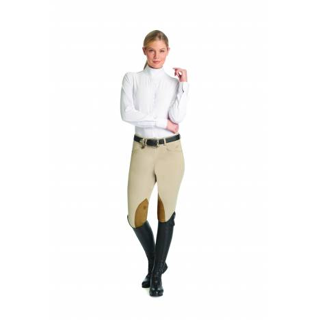 Ovation TS Hunter Side Zip Breech- Ladies, Knee Patch