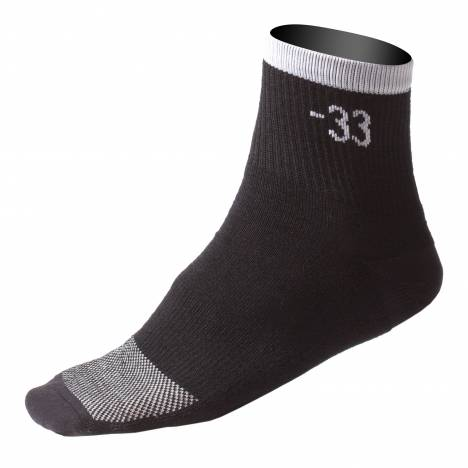 Muck Boots Low Rise Trail Sock - Black & White