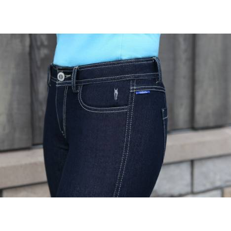 Irideon Plain Pocket Denim Breeches- Ladies