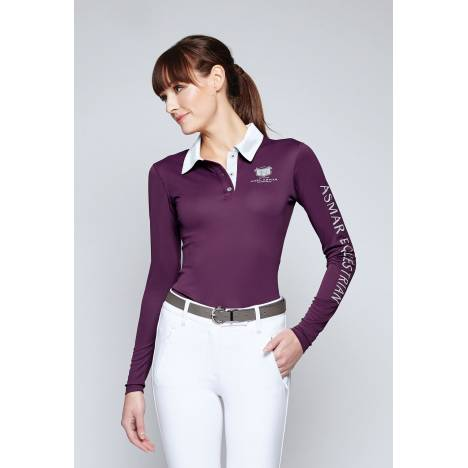 Asmar Classic Long Sleeve Screen Logo Polo - Ladies