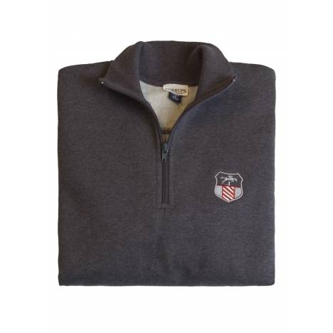 Stirrups 1/4 Zip Jumping Embroidered Fleece Pullover - Ladies