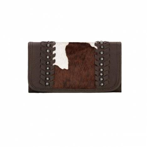 American West Cow Town Tri-Fold Wallet- Ladies