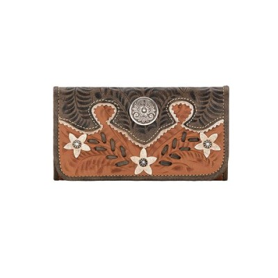 American West Desert Wildflower Ladies Tri-Fold Wallet
