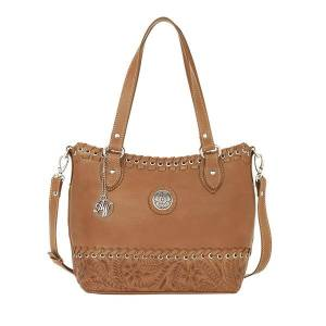 American West Harvest Moon Convertible Zip Top Bucket Tote