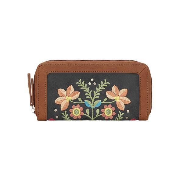 Bandana Maya Zip Around Wallet- Ladies
