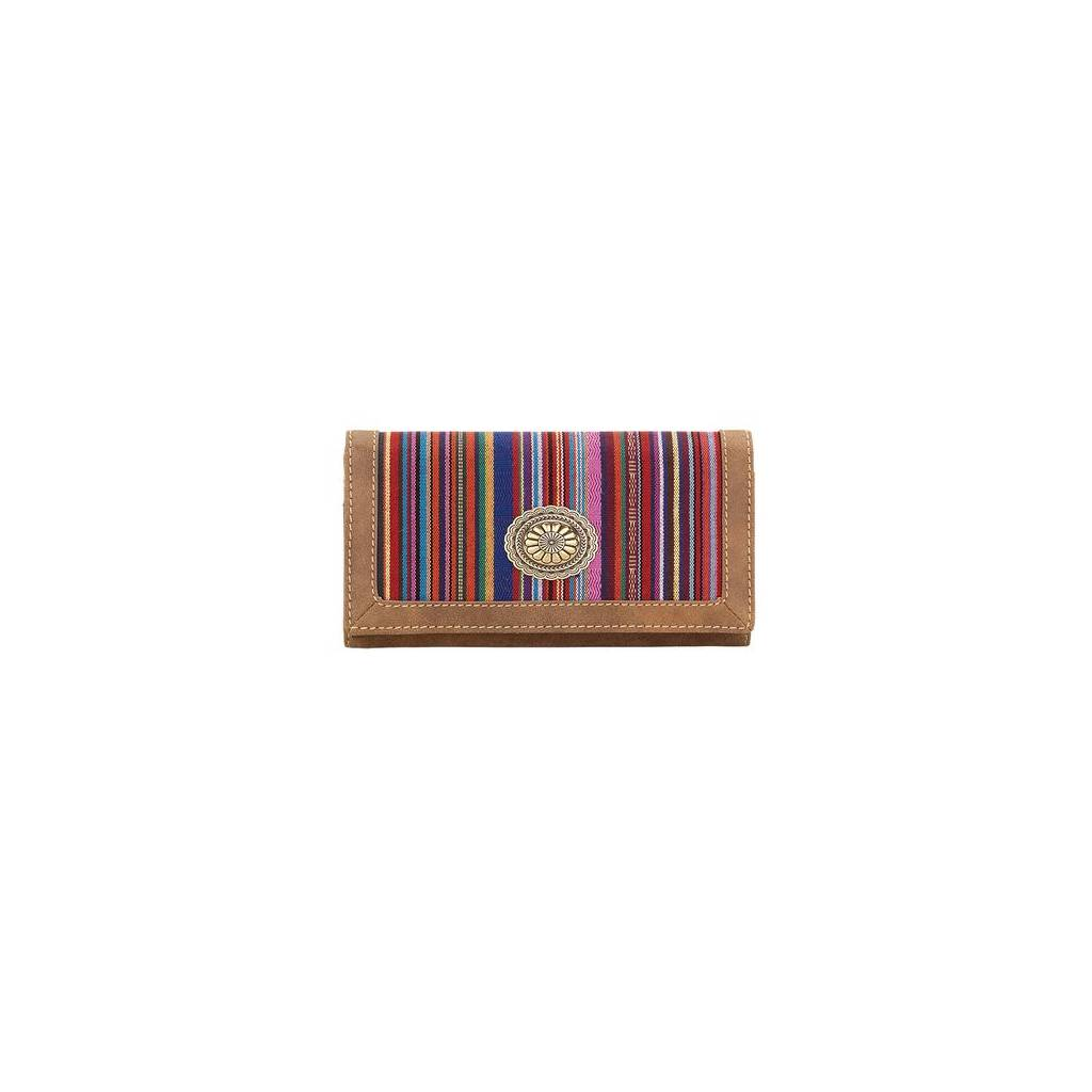 Bandana Serape Flap Wallet- Ladies