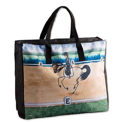 Whimsical Dressage Stick Horse Tote