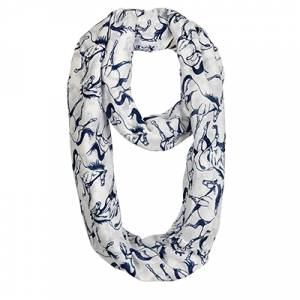 Textured Linear Horses Infinity Scarf - Ladies