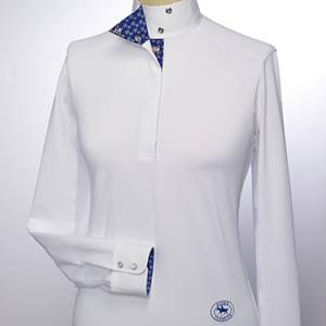Essex Classics Palma Talent Yarn Wrap Collar Shirt - Ladies