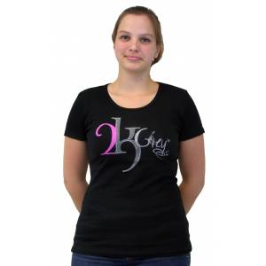 2kGrey Black Logo Tee Shirt - Ladies