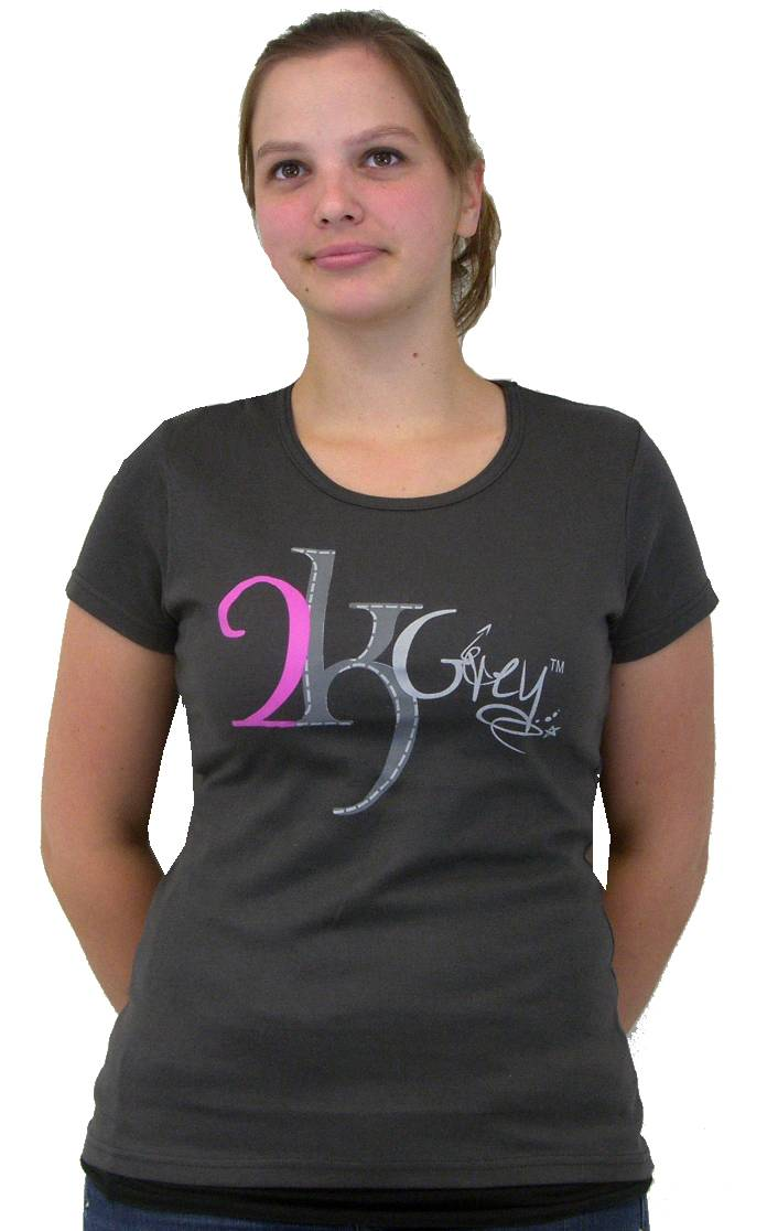 2kGrey Ride with Passion Tee Shirt Ladies