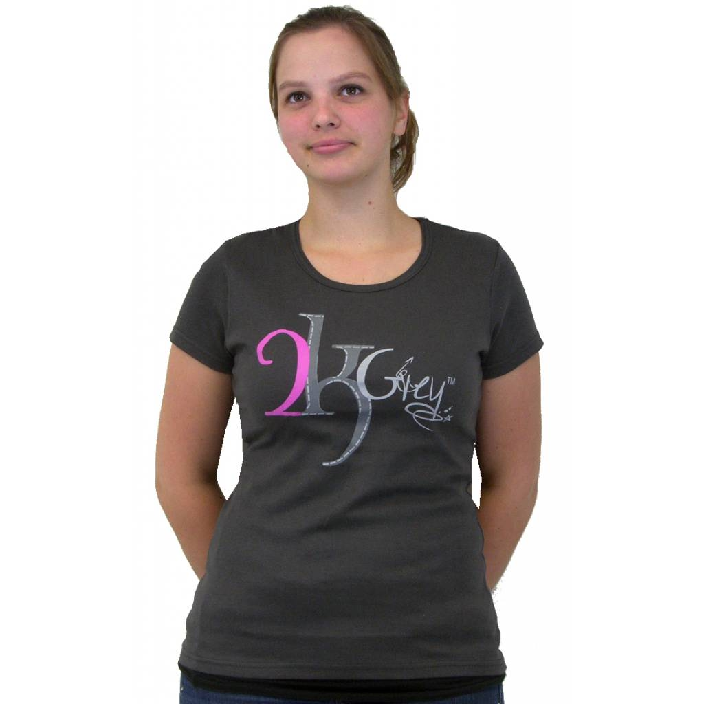 2kGrey Ride with Passion Tee Shirt - Ladies