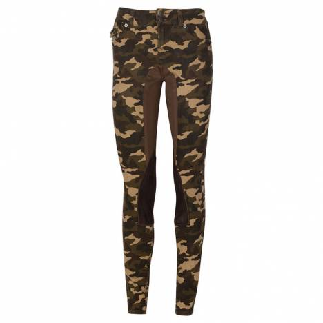 2kGrey Camo Print Stretch Riding Jean by Kiya Tomlin - Ladies