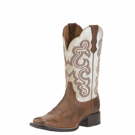 Ariat Quickdraw Boots - Ladies, Sandstorm/Distressed White