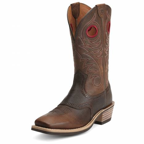 Ariat Heritage Roughstock Boots - Mens, Western Brown Rowdy