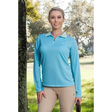Devon Aire Long Sleeve Tech Top- Ladies
