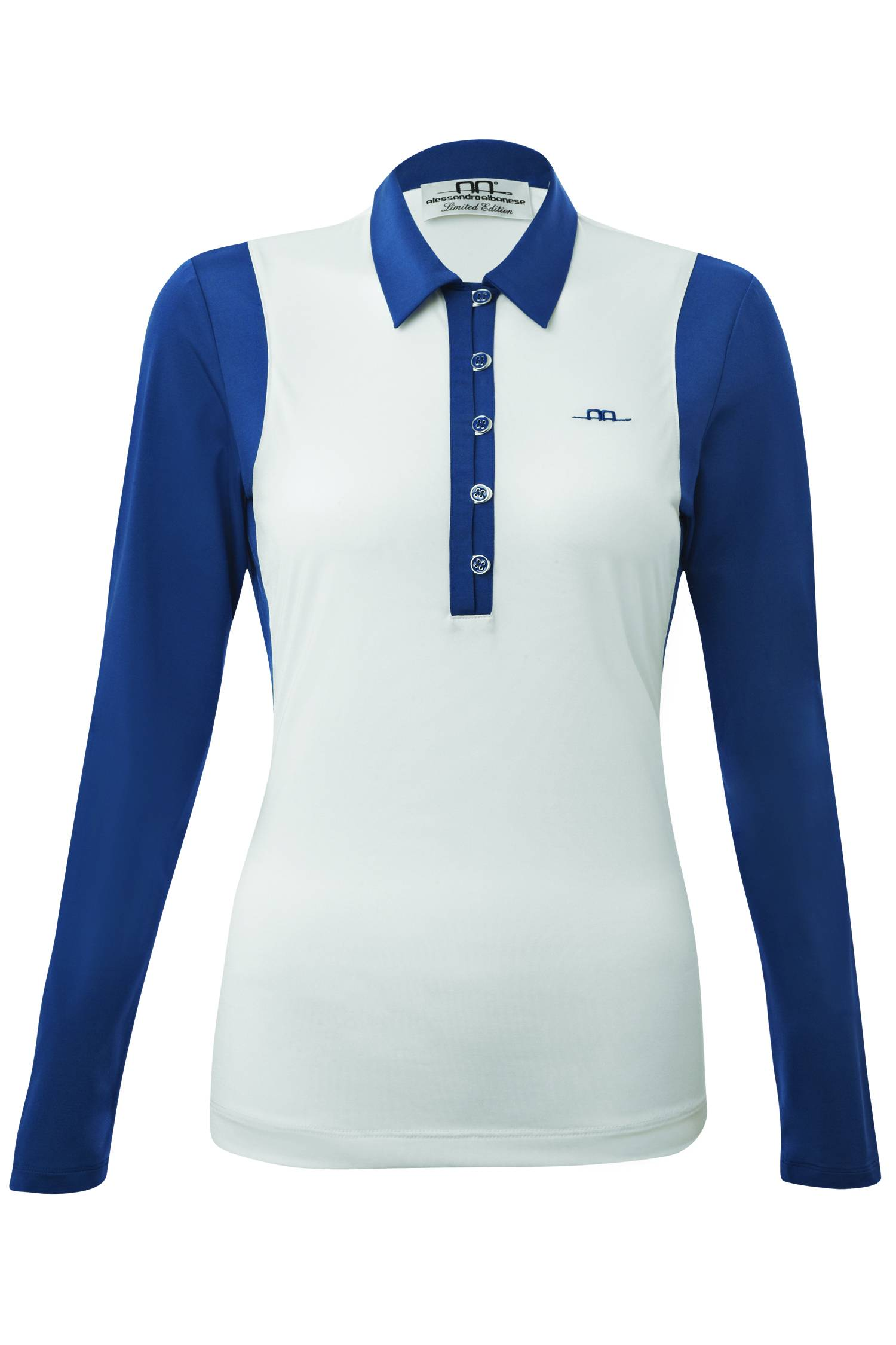 Alessandro Albanese Athlete Ladies Long Sleeve Polo Shirt