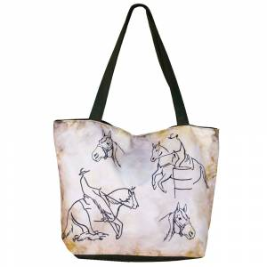 WOW Canvas Tote Bag  - Western Rider