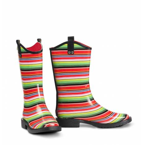 Blazin Roxx Alicia Stripe Square Toe Rain Boots- Ladies