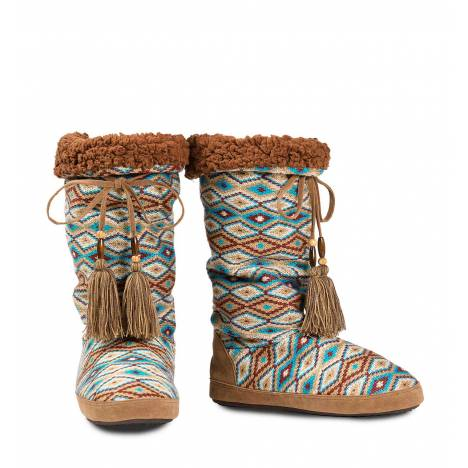 Blazin Roxx Tall Beaded Tassel Slippers - Ladies